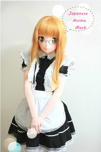 Full Head Anime KIG Mask Cosplay Kigurumi Crossdresser Doll Halloween Fetish Cartoon Character Masks Can Custom EYES HAIR