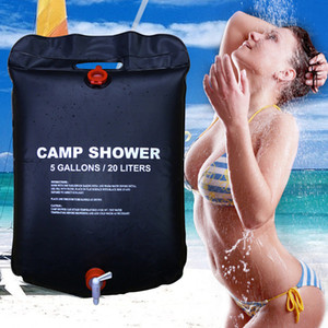 Wholesale Shower Bag Foldable Solar Energy Heated Camp PVC Water Bag Outdoor Camping Travel Hiking Climbing BBQ Picnic Water Storage 20L