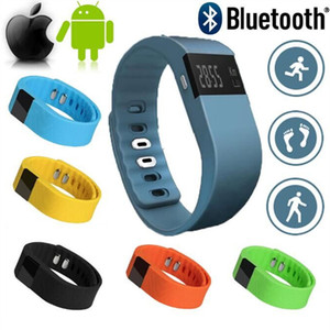Wholesale TW64 Smart Wristband Fitness Activity Tracker Bluetooth Smartband Sport Bracelet Pedometer For IOS Samsung Android Cellphones PK Miband