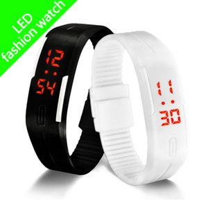 Wholesale Smart Watch Wristband new sports watch led digital display touch screen watches rubber band silicone bracelet watch