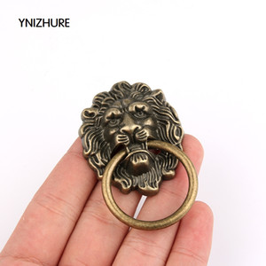 Wholesale 2017 New Furniture Handles mm Beast for Lion Head Antique Alloy Handle Wardrobe Drawer Door Pull Retro Decoration