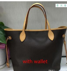 hot Famous Classical 3 colors Top quality famous women casual tote bag with wallet PU leather handbags bags.