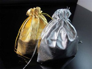 Wholesale 2016 Gold Silver Stain Organza Jewelry Gift Wedding Favors Bags Pouch Gift Bags Wedding Supplies Party Wedding Favors Small Gifts Bags