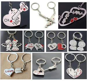 New Couple Key Rings key chain Promotion Advertisement Wedding Gift Happy Christmas Cap LOVE Baby Angel Princess Chobe Arrow through Heart