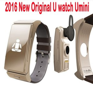 Wholesale mini wearable camera resale online - New U mini Smart Watch U20 Bluetooth Headset Personal Smart Wearable Bracelet Heartrate Monitor Remote Camera for iPhone Android