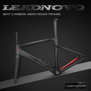 Wholesale 2018 NEW LEADNOVO carbon fiber road frame Di2&Mechanical racing bike carbon road frame+fork+seatpost+headset carbon road bike