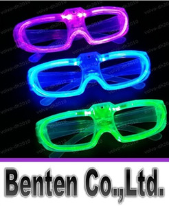 Wholesale New Led Cold Light Glasses EL Wire Glowing Flash Glasses Flashing Glasses Fluorescence Party Glasses DJ Party Christmas Holiday Props LLFA