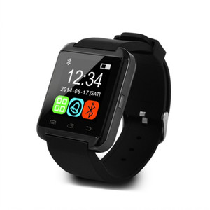 Wholesale 2017 Hot sale U8 Smartwatch Bluetooth Watch Drink Clock Passometer Touch Screen Answer and Dial the Phone with retail box iphone smart watch