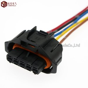 Wholesale cable railings for sale - Group buy 5 Pin mm Auto sensor plug diesel common rail injector intake pressure plug Auto waterproof plug with cable for Bosch connector