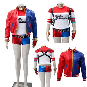 2016 NEW Version DC Comic Batman Suicide Squad Harley Quinn Joker Cosplay Costume Halloween Party Customize Full Set