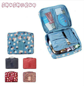 Wholesale SHUSHIRUO Band Unisex Waterproof Cosmetic Makeup Bag Toiletry Travel Kit Organizer Print Storage Mesh Pocket Purse Bag Monopoly Pouch