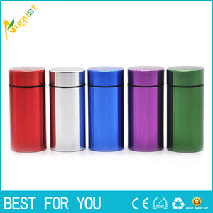 Wholesale Portable Travel Pill Box WaterProof Mini Blue Aluminum Tablet Pill Storage Box Case Holder Medicine Box Container