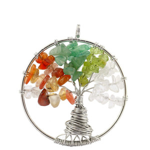 colliers de hache achat en gros de-news_sitemap_home12 couleurs The Tree of Life Crystal Natural Crystal Pierre Collier Pendentif Special Root Design Rainbow Couleur Pendentif AXS A243