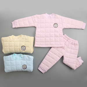 Wholesale 2017 autumn and winter new hot children thickening thermal underwear set color children s cotton clothing