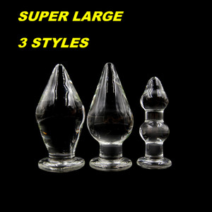 Anal Fisting Glass Anal Plugs Super Large Anus Enlarger Intruder Dilator Butt Beads Dildos Dongs Erotic Fetish Sex Toys Pyrex Novelty