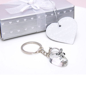 Wholesale baby shoes favors for sale - Group buy Crystal Collection Baby Shoe Keychain Keyring Bootie Key Ring Christening Wedding Gifts Baby Shower Favors ZA4410