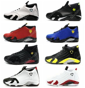 Wholesale 14 XIV Oxidized Green Indiglo Thunder Playoffs Black Toe Red Suede s Men Basketball Shoes Sneaker Last Shot Sport Shoes With Box