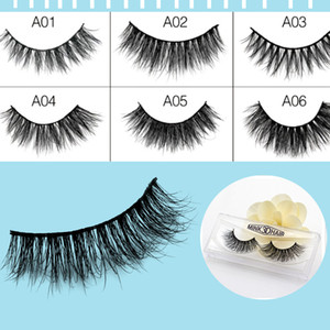 Wholesale 19 Style Natural Makeup d Mink Lashes Eyelash Extension Handmade Full Strip Lashes Cruelty Free Korean Mink Lashes False Eyelashes Cross