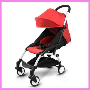 Wholesale umbrella trolley baby resale online - Portable Folding Baby Stroller Child Trolley Sleeping Basket Carriage Adjustable Sit Lie Lightweight Travel Plane Baby Cart