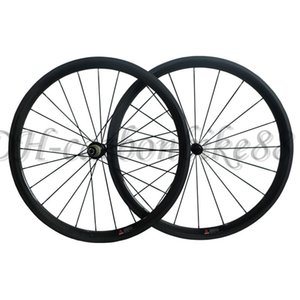 Wholesale 38mm clincher carbon fiber road bike wheels with powerway R13 hub 8 9 10 11 Speed 3k matt glossy painted wheelsets