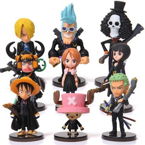 Wholesale one piece figure set sanji resale online - Anime One Piece Mini Action Figures The Straw Hats Luffy Roronoa Zoro Sanji Chopper Figure Toys set