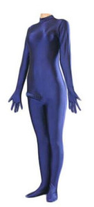 Men Lycra Spandex Zentai Catsuit Bodysuit with Penis Sheath No Hood