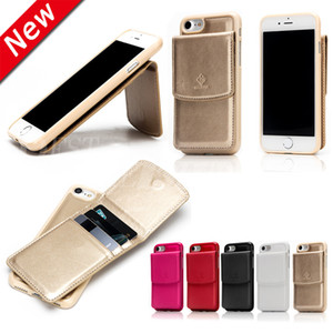 Wholesale New Design For iPhone Plus Luxury Fashion Business Case In PU Leather Cover Pouch Credit Card Slot Kickstand