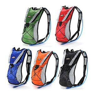 Hydration Pack Water Rucksack Backpack Bladder Bag Cycling Bicycle Bike Hiking Climbing Pouch + 2L Hydration Bladder Set