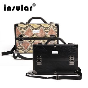 Wholesale Hot Sales Professional Fashion Aluminum Women Cosmetic Case Makeup Bag Deluxe Black Zebra Pattern Synthetic Leather