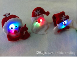 Hot Christmas 3D LED Pops Bracelet Pops Hairband Cute Gift Santa Claus Snowman (12pcs lot)s