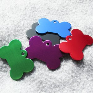 100pcs lot Aluminum Bone Shaped Pet Dog ID Tags Suitable for Laser Engraving 3 Sizes Available