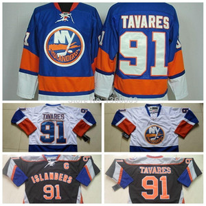 Wholesale New York Islanders Hockey Jersey John Tavares Jersey NY Islanders Home Royal Blue Road White Alternate Black Jersey C Patch