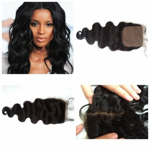 Wholesale Mongolian indian remi hair silk top closure frontal piece body wave straight all available fast delivery time G EASY