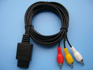 Wholesale HOT SALE AV Cable to RCA for SNES Nintendo N64 Gamecube N GC GC AUDIO VIDEO Cord