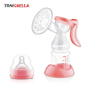 Wholesale Manual Breast Feeding Pump Original Manual Breast Milk Silicon PP BPA Free With Milk Bottle Nipple Function Breast Pumps T0100