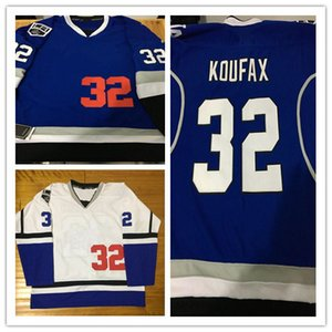 2017-18 New Style Los & Kings Combination 32 Koufax Mix Style With King Patch Stithced Hockey Baseball Jerseys on Sale