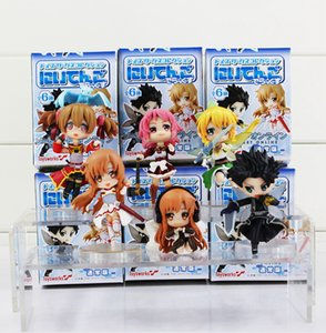 4-8.5cm 6 Styles Sword Art Online PVC Action Figure Collectable Model Toy for kids gift free shipping EMS