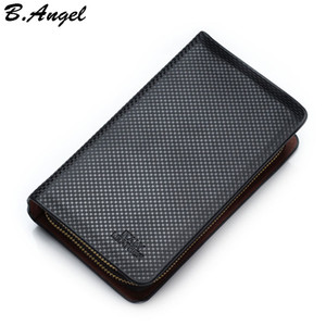 Wholesale Men s Business Leather Clutch Wallet Multifunctional Long Design Brand Wallet Zipper Coin Purse Card Holder Gift for Men