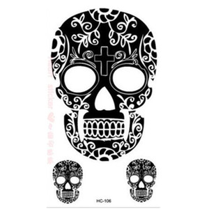 Wholesale New fashion Skull tattoo stickers waterproof high quality popular designer brand transfer sticker CH106