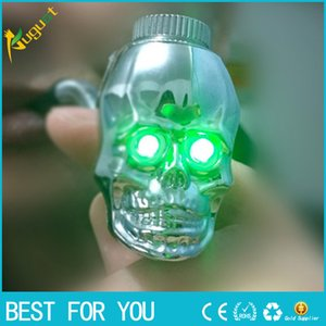 Wholesale Hot sale new skull shape metal smoking pipe LED Luminous scalable property metal pipe color