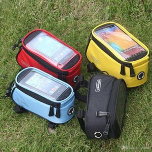 Wholesale ROSWHEEL quot quot quot Outdoor Waterproof Cycling Mountain Bike Bicycle Handlebar Bag Frame Front Tube Touchscreen Phone Case Bag