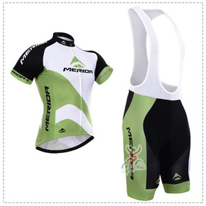 2015 MERIDA WHITE GREEN SHORT SLEEVE CYCLING JERSEY SUMMER CYCLING WEAR ROPA CICLISMO+ BIB SHORTS 3D GEL PAD SET SIZE:XS-4XL