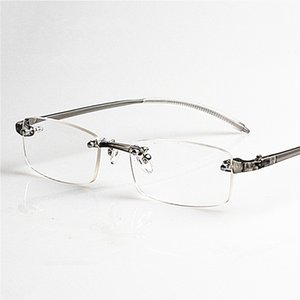 New Brand Memory Glasses Rimless Frame Reading Glasses Grey Eyewear for Women Men 12Pcs Lot Free Shipping