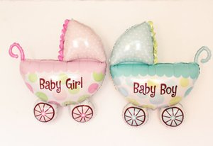 Baby Carriage Boy Girl Balloon Baby Stroller Foil Balloons Baby Shower Inflatable Toys Children Birthday Party Decorations Big Size