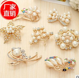 Fashion Rhinestone Brooch for women Wedding Bridal Crystal Pearl Brooches Brooch Bouquet Faux Pearl Diamond