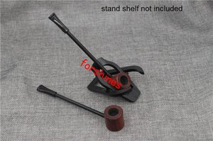 Wholesale rosewood pipe for sale - Group buy rosewood wooden smoking pipe red Ebony tobacco pipes cigarette holder Mini Long Wood Pipe Men s herb