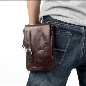 Wholesale 2017 Hot sale Cowhide men bag casual style waist bag pack genuine leather travel bags messenger bags