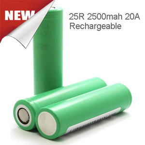 100% Genuine 18650 Green Blue 25r Battery 2500mah 20A Cell Lithium 22P Battery 20A Fedex Free Shipping on Sale