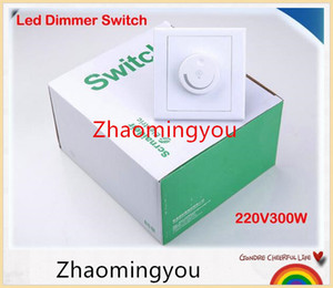Wholesale 1PCS Free shipping LED Dimmer Switch 220V 300W Brightness Driver Dimmers For Dimmable LED lighting lamp