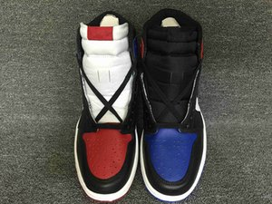 Wholesale 2018 NEW Top quality High OG Top black men basketball shoes mens sports shoes red blue sneakers size